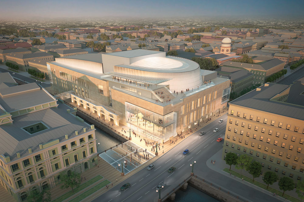An artist's impression of the new Mariinsky II Photo:  Mariinsky Theatre