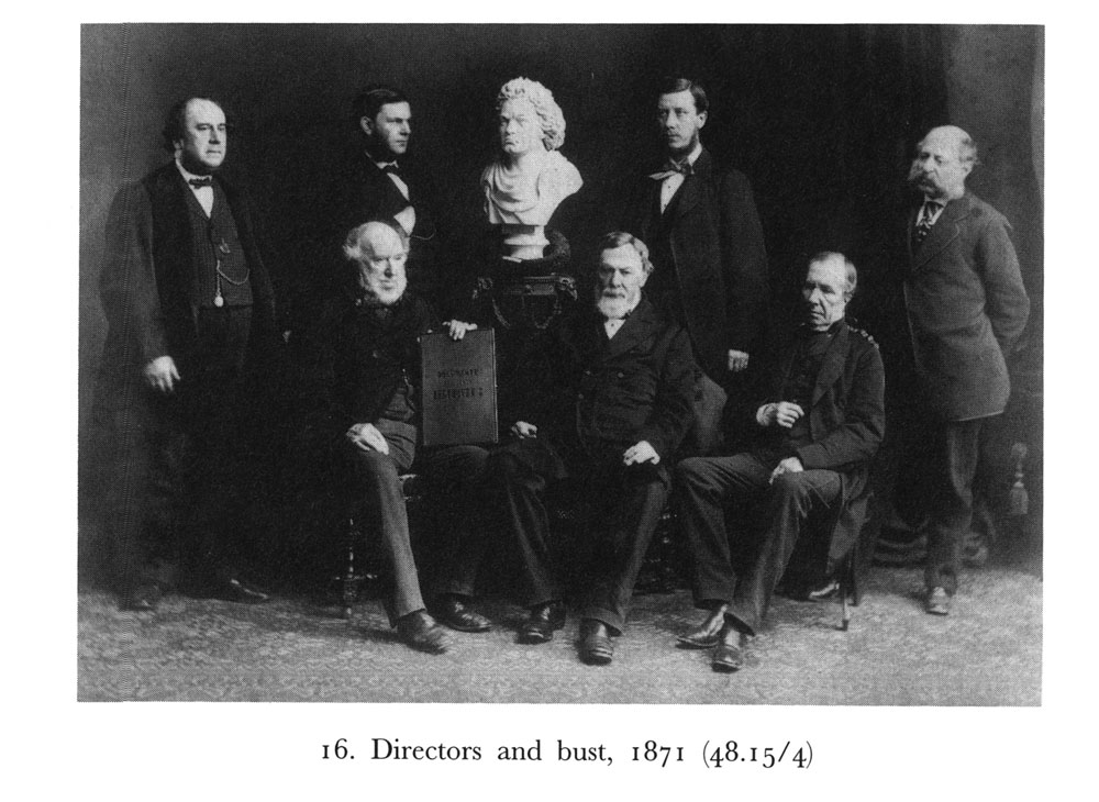 1-Directors-of-the-Philharmonic-Society-with-bust-of-Beethoven-by-Johann-Schaller,-presented-to-the-Society-in-1871-photo-credit--British-Library