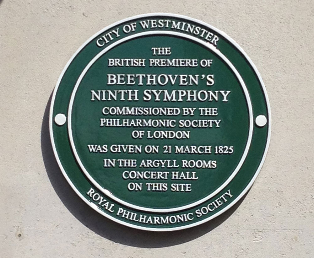 1-Westminster-Green-Plaque-on-the-site-of-first-UK-performance-of-Beethoven's-9th-Symphony-252-Regent-Street-London