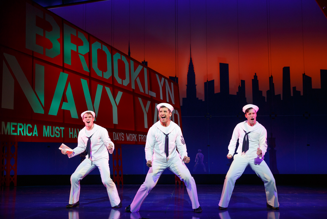 1-Jay-Armstrong-Johnson,-Tony-Yazbeck-and-Clyde-Alves-in-Broadway's-ON-THE-TOWN.-Photo-by-Joan-Marcus