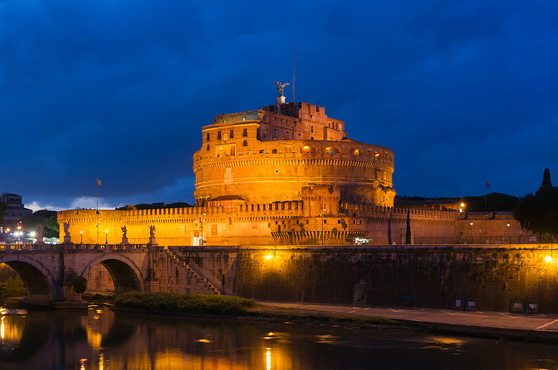 castel_santangelo_at_dusk_rome_italy